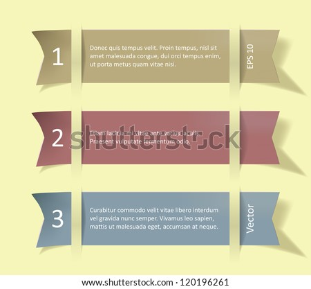 Set of colorful ribbon promotional products design, eps 10 vector illustration. - stock vector