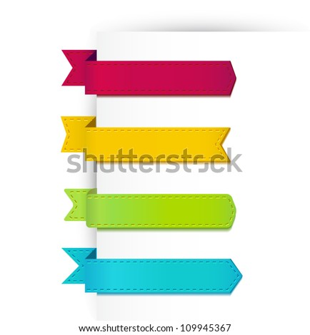 Set of colorful ribbons. Vector