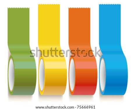 Set of Colorful Scotch adhesive Tape
