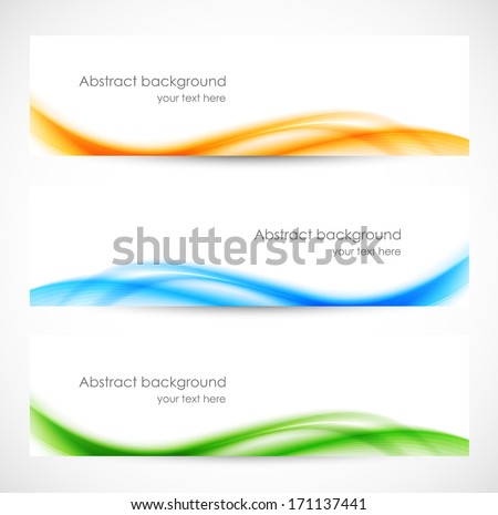 Set of colorful softness banners - stock vector