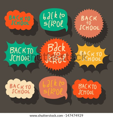 Set of colorful speech bubbles, vector illustration. - stock vector