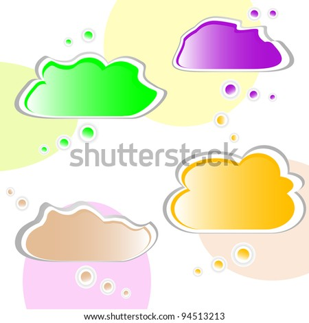 Set of colorful speech bubbles. Vector illustration - stock vector