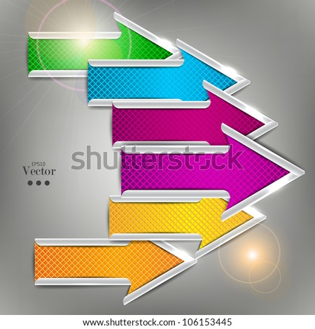 Set of colorful vector arrows. Website elements. - stock vector