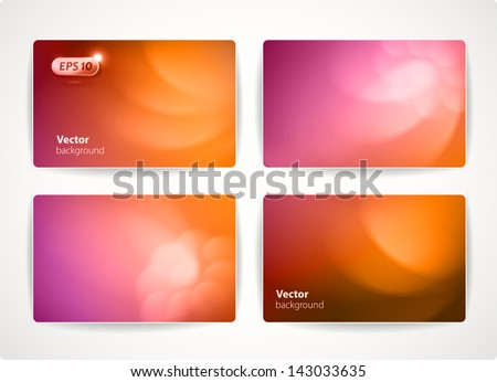 Set of colorful vector business cards (credit or discount cards). - stock vector