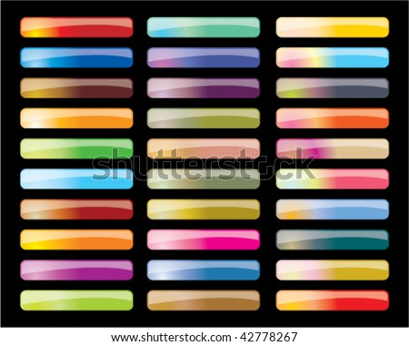 set of colorful vector button - stock vector
