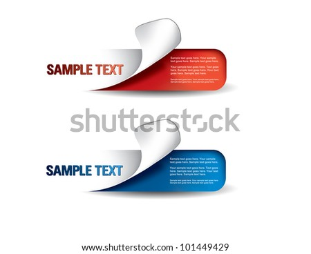 Set of Colorful Vector stickers.