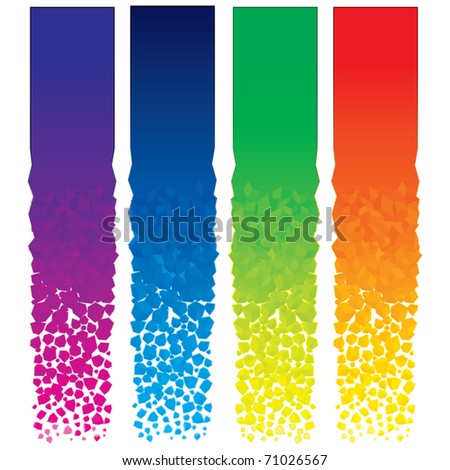 Set of colorful vector vertical banners - stock vector