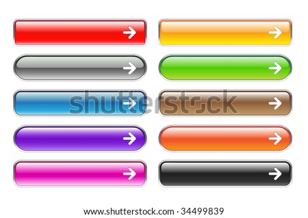 set of colorful web buttons - stock vector