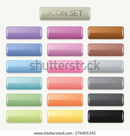 Set of Colorful Website Buttons : Vector Illustration - stock vector