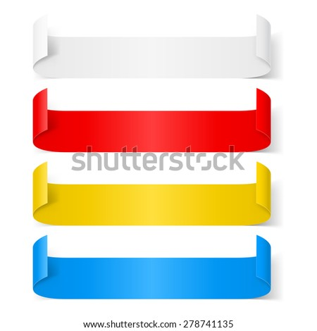 Set of colorfull paper sticker isolated on a background - stock vector
