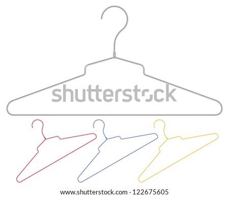 Set of colour vector hangers - stock vector