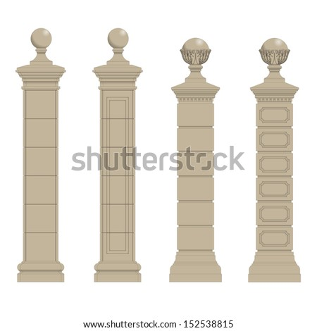 set of column 3 - stock vector