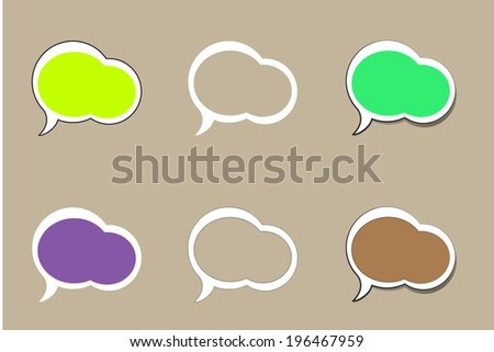 Set of comic style colorful speech bubbles