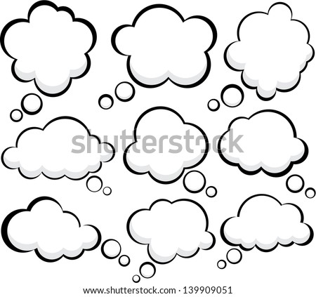 Set of comic style speech bubbles. Vector clouds. Eps10. - stock vector