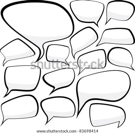 Set of comic style speech bubbles. Vector illustration. - stock vector