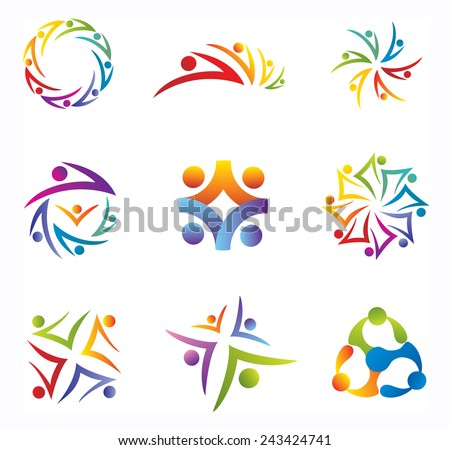 Set of Community / People / Social Network Icons - stock vector