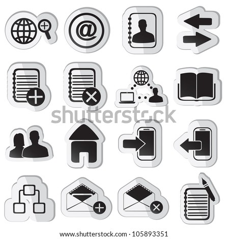 set of community stickers - part 2 - vector illustration - stock vector