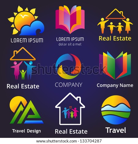 Set Company Name Concepts Vector Illustration Stock Vector Royalty