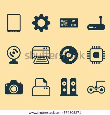 Power Generator Symbol. Simple Includes Web Camera Connector Power ...