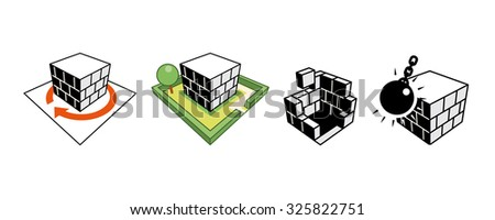 Set of construction icons - stock vector