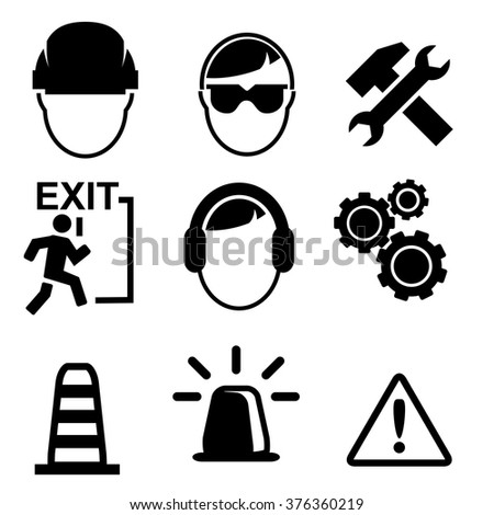 Set of construction icons isolated on white background, vector illustration - stock vector
