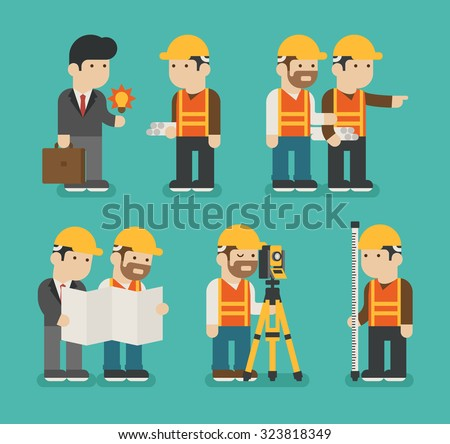 Set of construction worker , eps10 vector format - stock vector