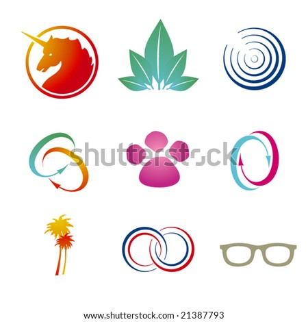 Set of corporate vector branding templates. Just place your own brand name.