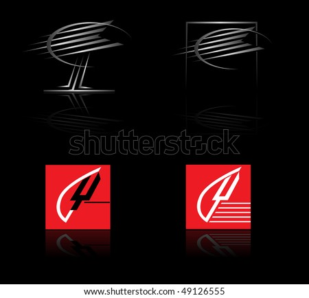 Set of corporate vector logo templates - stock vector