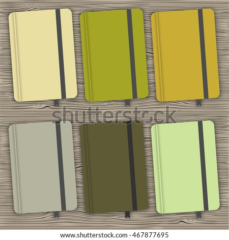Set of covers in shades of green