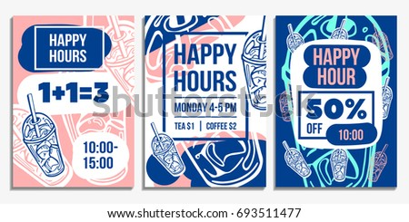 Set Of Creative Hand Drawn Sale Flyer Template Design Can Be Used As Poster