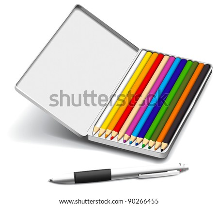 Set of creativity tools - stock vector