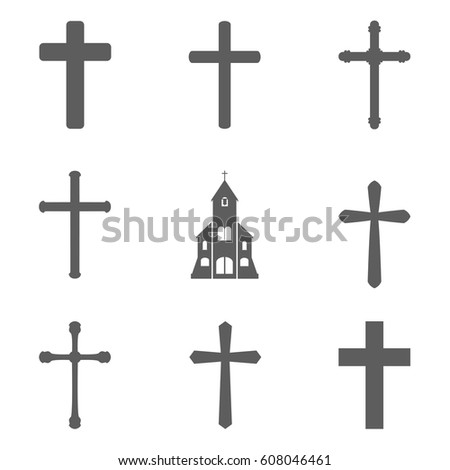 Set of cross icon