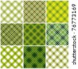 Set of crossed lines textile seamless patterns. Vector backgrounds collection. - stock vector