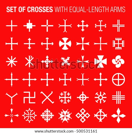 Set of crosses with equal-length arms.