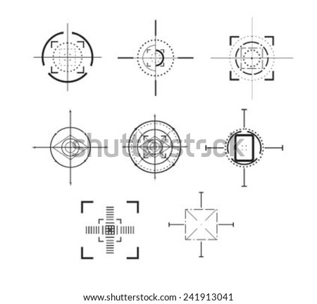 Set of crosshairs - illustration - stock vector