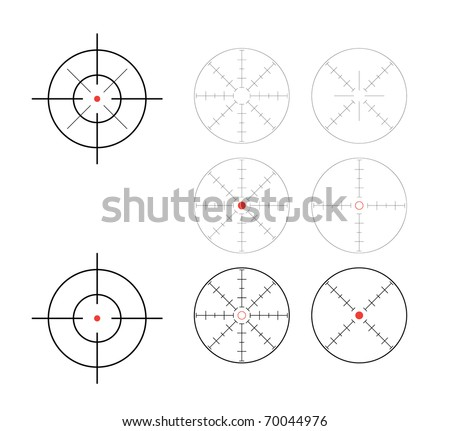 set of crosshairs - illustration