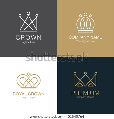 Set crown logo templates vector crown stock vector 2018 401540764 vector crown design for business company hotel boutique stopboris Gallery