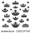 set of crowns vector illustration - stock vector