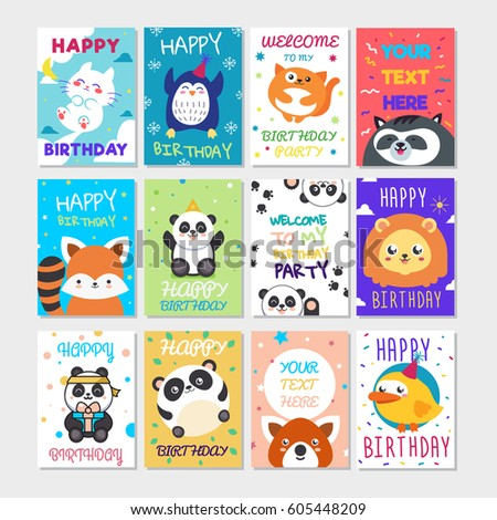 Cute Happy Birthday Greeting Card Child Vector 575707252 – Birthday Card for Child