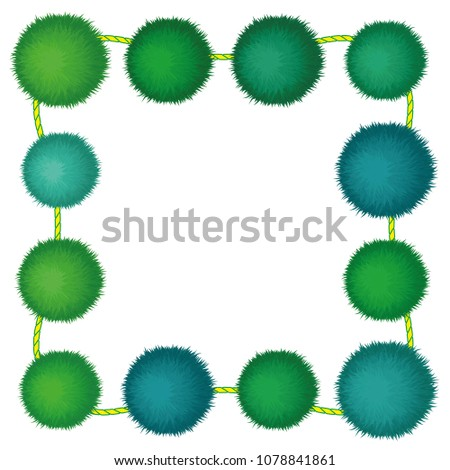 Set 10 Cute Green Birthday Party Stock Vector 1078841861 - Shutterstock