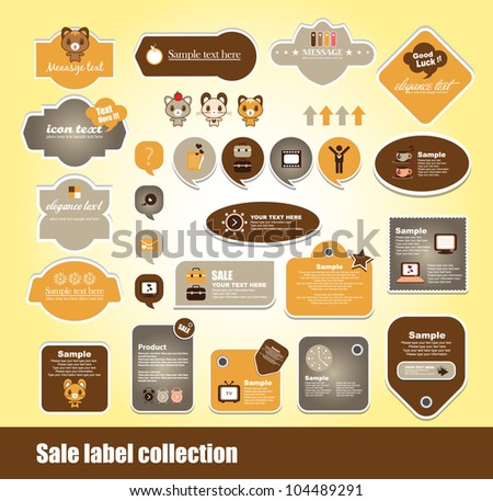 set of cute scrap book - stock vector