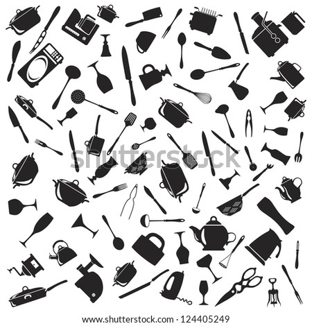 Set of cutlery icons - stock vector