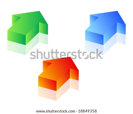 Set of 3d arrows for designing - stock vector