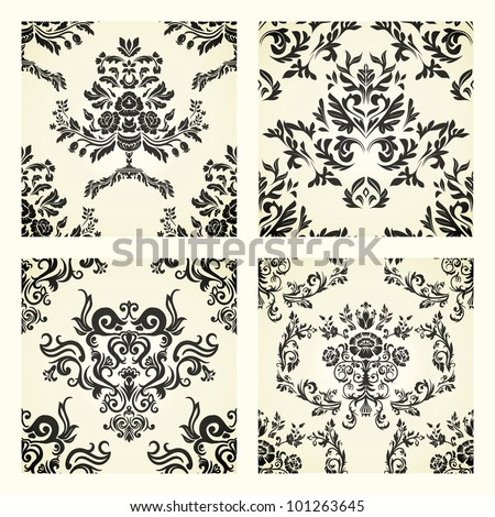Set of damask ornaments. - stock vector