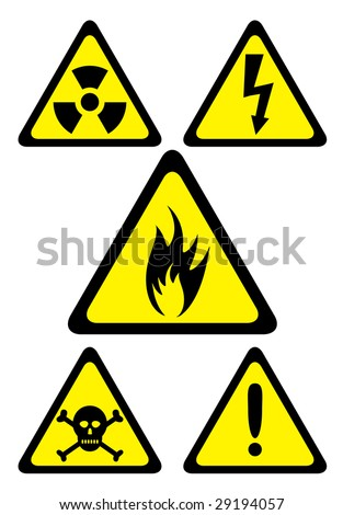 Set Danger Symbols Stock Vector Hd Royalty Free 29194057