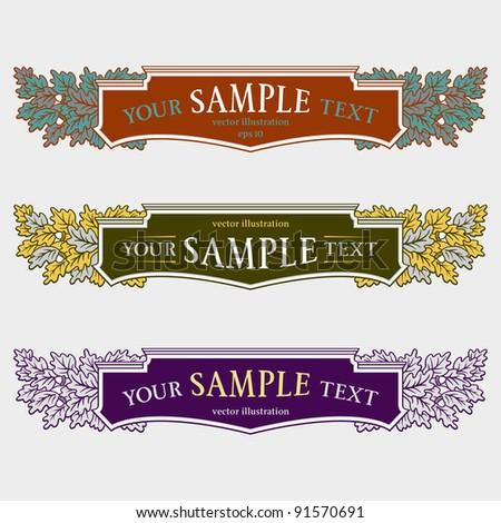 set of decorative design elements - stock vector