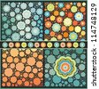 set of decorative floral seamless patterns - stock