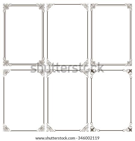 Set of decorative frames. - stock vector