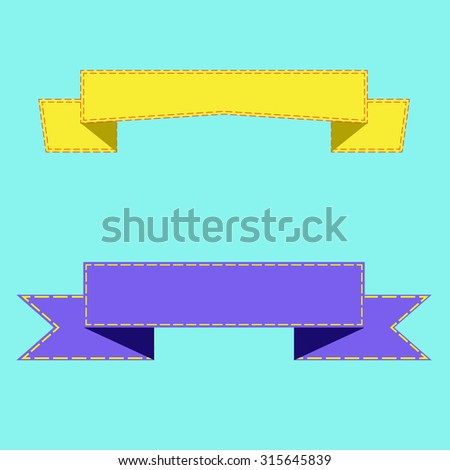 Set of design elements banners ribbons. Vector illustration - stock vector