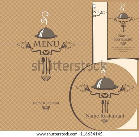 set of design elements for a cafe or restaurant - stock vector